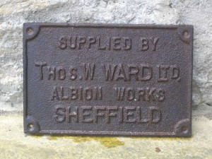 Metal plate from set of buffers - unrestored