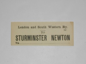 LSWR luggage label (S&D line)